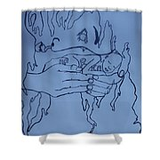 Jesus King Of  Africa Shower Curtain