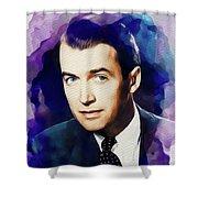 Jimmy Stewart, Vintage Movie Star Shower Curtain