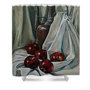 Jug With Apples Shower Curtain