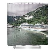 Juneau Alaska Usa Northern Town And Scenery Shower Curtain