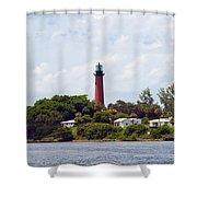 Jupiter Inlet Florida Shower Curtain