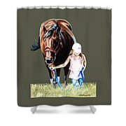 Just A Girl And Her Horse  Shower Curtain