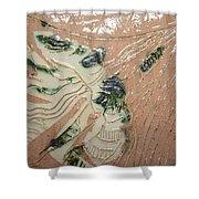 Lady - Tile Shower Curtain