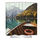 Lago Di Braies Shower Curtain