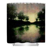 Lagoon At Sunset Shower Curtain