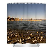 Lakefront And Sunset At Mono Lake, Eastern Sierra, California, U Shower Curtain