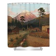 Landscape With Volcano Shower Curtain