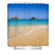 Lanikai, Mokulua Islands Shower Curtain