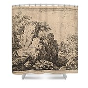 Large Rock Shower Curtain