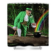 Leprechaun With Pot Of Gold Shower Curtain