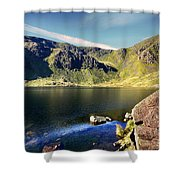 Levers Water Shower Curtain