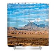 Licancabur Volcano View Shower Curtain