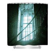 Light Through The Currituck Window - Text Shower Curtain
