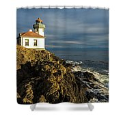 Lime Kiln Lighthouse Shower Curtain