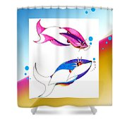 2 Little Fish Shower Curtain