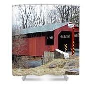 Little Gap Covered Bridge Shower Curtain