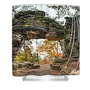 Little Pravcice Gate - Famous Natural Sandstone Arch Shower Curtain