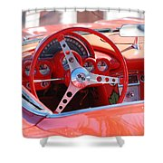 Little Red Corvette Shower Curtain