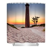 Little Sable Point Light Station Shower Curtain