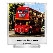 London Red Bus. Shower Curtain