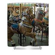 Looff Carousel Santa Cruz Boardwalk Shower Curtain