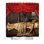 Lord Byron On His Death Shower Curtain