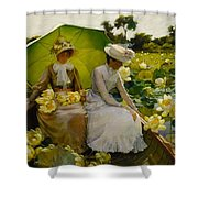 Lotus Lilies Shower Curtain