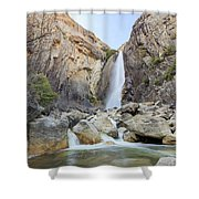 Lower Yosemite Fall In The Famous Yosemite Shower Curtain
