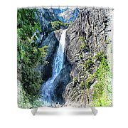 Lower Yosemite Falls Shower Curtain