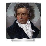 Ludwig Van Beethoven, German Composer Shower Curtain