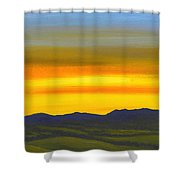 Luminescent Sunrise Shower Curtain