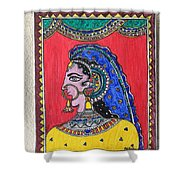 Madhubani  Shower Curtain