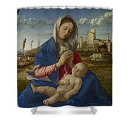 Madonna Of The Meadow Shower Curtain