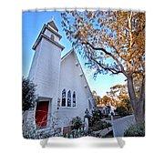 Magnolia Springs Alabama Church Shower Curtain