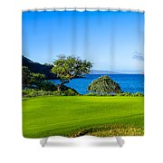 Makena Golf Course In Makena Area Shower Curtain