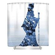 Maleficent-blue Shower Curtain