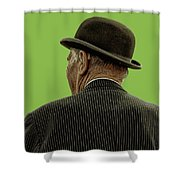 Man With A Bowler Hat Shower Curtain