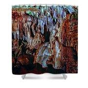 Marble Cave Crimea Shower Curtain