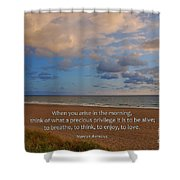 2- Marcus Aurelius Shower Curtain