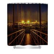 Marine At Night Shower Curtain