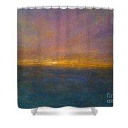 Mayflower Beach Sunset Shower Curtain