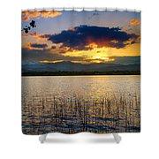 Mcintosh Lake Sunset Shower Curtain