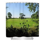 Meadow Near Coswig Shower Curtain