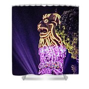Merlion Shower Curtain