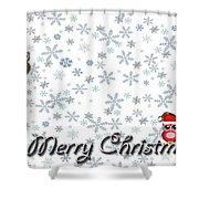 Christmas Card 8 Shower Curtain