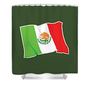 Mexico Flag Shower Curtain