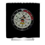 Mickey Mouse Watch Face Shower Curtain