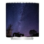 Milky Way Over The Ruins Of Strata Florida Abbey, Wales Uk Shower Curtain