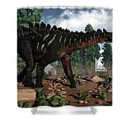 Miragaia Dinosaur - 3d Render Shower Curtain