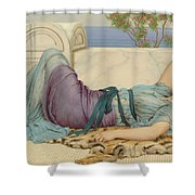 Mischief And Repose Shower Curtain